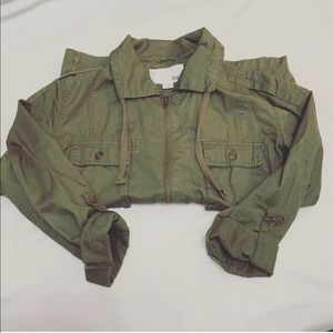 Bar III olive / army green lightweight jacket S